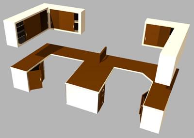 Planos de modulo de oficina en max oficinas y for Muebles de oficina 3d max