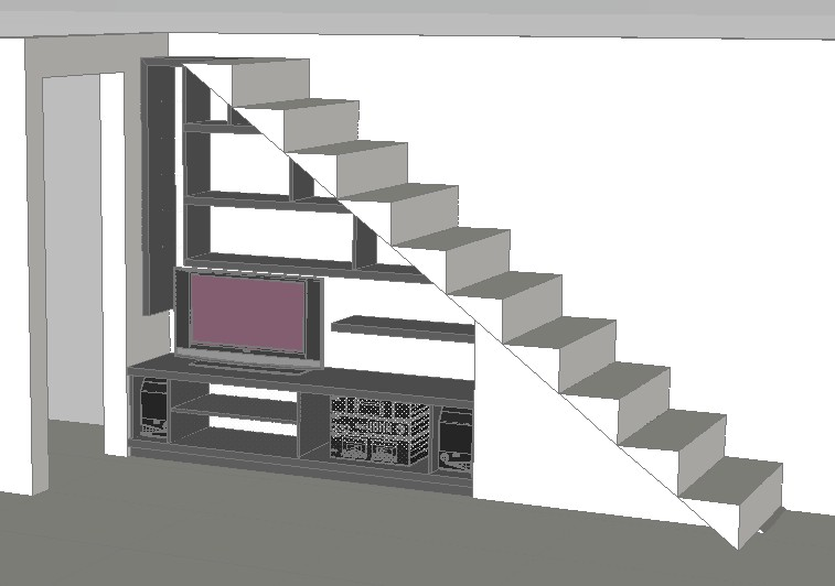 Planos de casas planos de construccion for Muebles bajo escalera