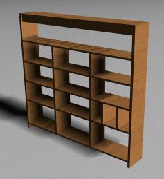 Planos de mueble organizador 3d en max estanter as y - Muebles estanterias modulares ...