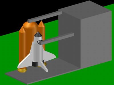 imagen Nave de la nasa 3d en DWG