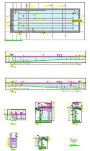 Planos de piscina polivalente en dwg autocad proyectos for Planos de piscinas temperadas