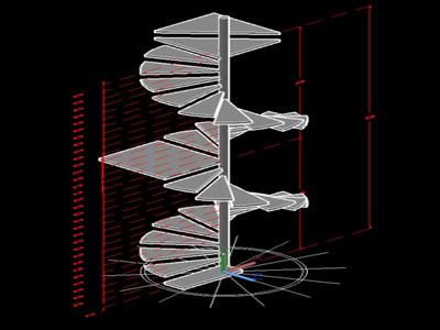 imagen Prototipo de escalera 3d en DWG