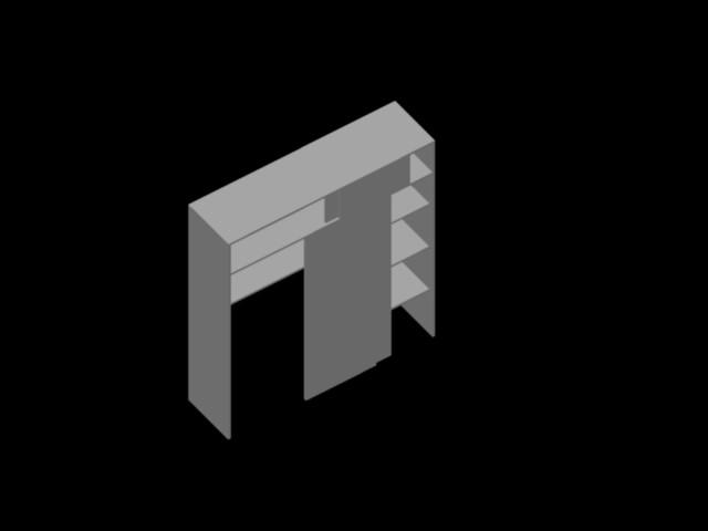 Planos de ropero 3d en dwg autocad vivienda unifamiliar for Planos de roperos