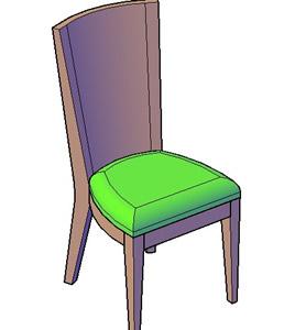 Planos de silla comedor 3d en dwg autocad sillas 3d for Sillas para 3d max