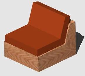 Planos de sill n de un cuerpo 3d en dwg autocad sillones for Planos de sillones