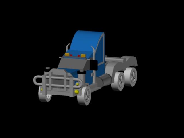 imagen Planos de Triler 3d en DWG AUTOCAD, Camiones - Medios de transporte