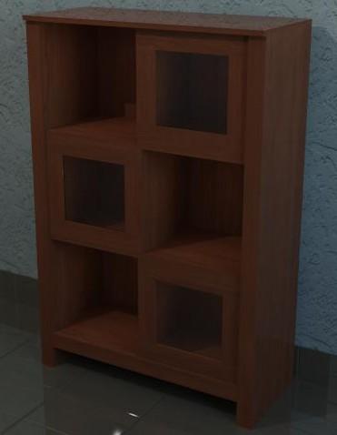 Planos de vitrina de madera 3d en max estanter as y - Muebles estanterias modulares ...