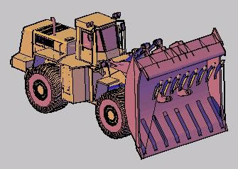 imagen Topadora cargadora. 3d, en Camiones - Medios de transporte