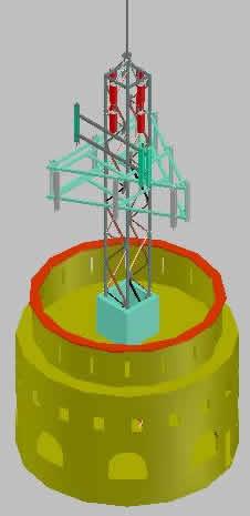 imagen Torre de telecomunicaciones 3d, en Comunicaciones y telefonía - Instalaciones