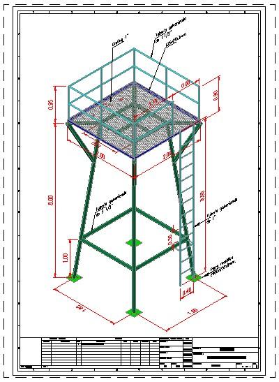 imagen Torre para tanque elevado de agua 3d, en Tanques - Máquinas instalaciones