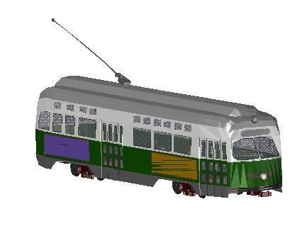 imagen Tranvia 3d, en Ferrocarriles - Medios de transporte