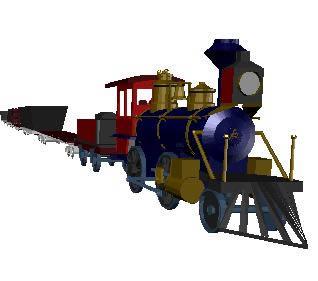 imagen Tren de carga 3d, en Ferrocarriles - Medios de transporte