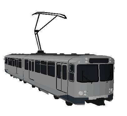 imagen Tren electrico 3d, en Ferrocarriles - Medios de transporte