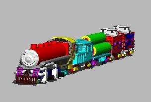 imagen Tren, en Ferrocarriles - Medios de transporte