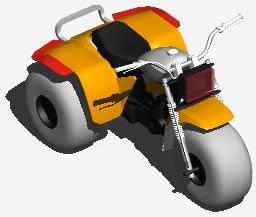 imagen Trimoto 3d, en Motos y bicicletas - Medios de transporte