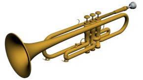 imagen Trompeta 3d, en Instrumentos musicales - Muebles equipamiento
