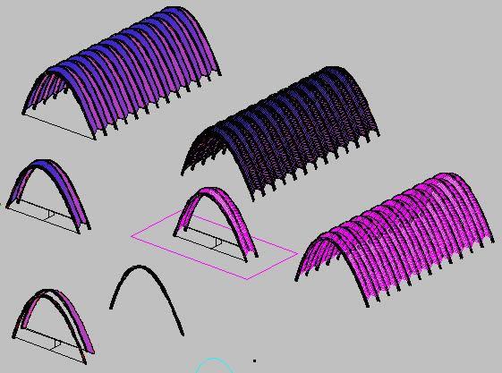 imagen Umbracle de santiago calatrava - 3d, en Obras famosas - Proyectos