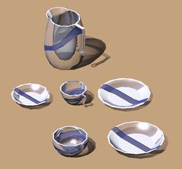 imagen Vajilla de cristal y ceramica, en Vajilla - Muebles equipamiento