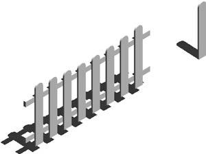 Planos de valla madera 3d en verjas y vallados parques paseos y jardines en planospara - Verjas de madera para jardin ...