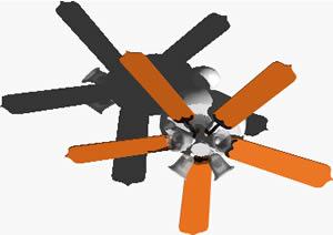 imagen Ventilador de techo 3d con materiales aplicados, en Electrodomésticos - Muebles equipamiento