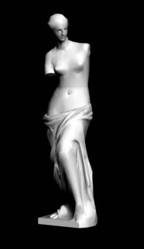 imagen Venus de milo 3d, en Monumentos y esculturas - Historia