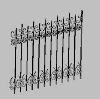 imagen Verja de hierro forjado, en Verjas y vallados - Parques paseos y jardines