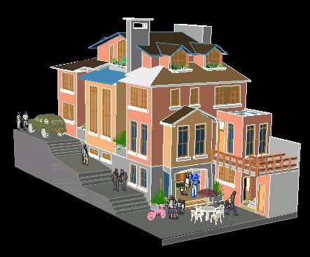 imagen Vivienda 3d, en Vivienda unifamiliar 3d - Proyectos