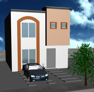 imagen Vivienda  de dos plantas 3d, en Vivienda unifamiliar 3d - Proyectos