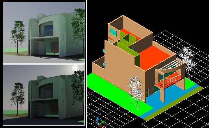 imagen Vivienda dos plantas - 3d, en Vivienda unifamiliar 3d - Proyectos