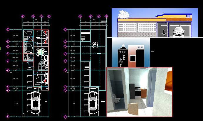 imagen Vivienda duplex, en Vivienda unifamiliar 3d - Proyectos