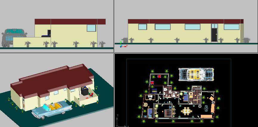 imagen Vivienda en 3d - tres dormitorios, en Vivienda unifamiliar 3d - Proyectos