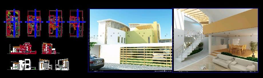 imagen Vivienda en huancayo; de 3 pisos, en Vivienda unifamiliar - Proyectos