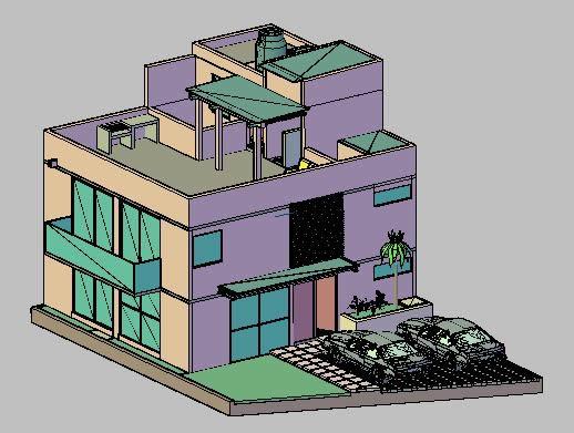imagen Vivienda residencial 3d, en Vivienda unifamiliar 3d - Proyectos