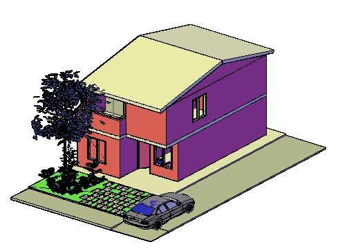 imagen Vivienda unifamiliar 3d, en Vivienda unifamiliar 3d - Proyectos