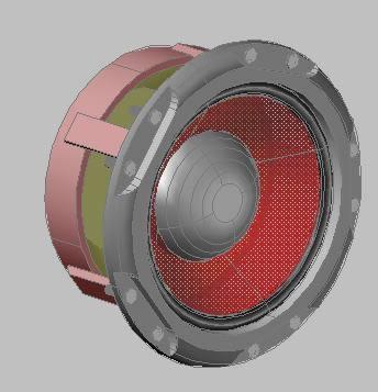 imagen Wofer - parlante, en Componentes 3d - Electrónica