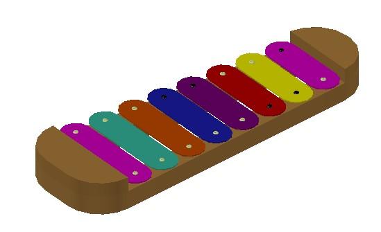imagen Xilofono 3d, en Instrumentos musicales - Muebles equipamiento