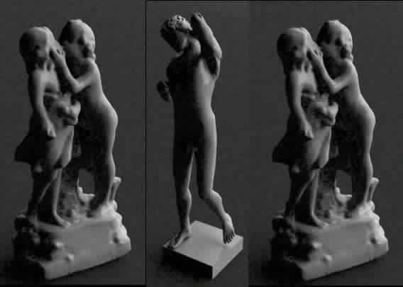 3 esculturas, en Monumentos y esculturas – Historia