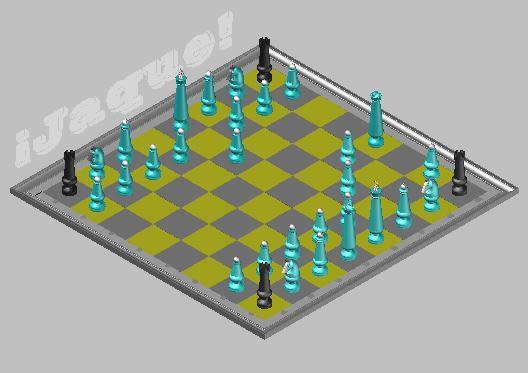 Planos de 3d ajedrez, en Juegos – Muebles equipamiento
