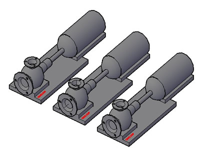 Planos de 3d bomba, en Equipos de bombeo – Máquinas instalaciones