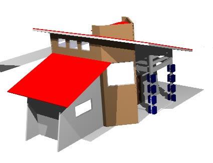 imagen 3d bungalow., en Vivienda unifamiliar 3d - Proyectos