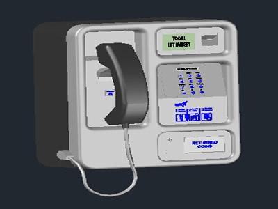 Planos de 3d cabina telefónica, teléfono público, en Informática – Muebles equipamiento