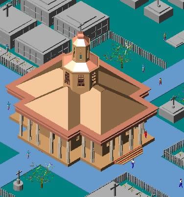 imagen 3d capilla de cementerio, en Arq. religiosa - Proyectos