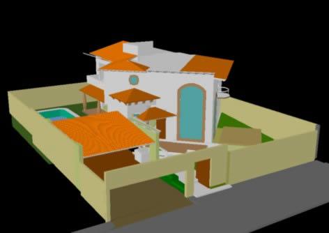 Planos de 3d casa habitacion, en Vivienda unifamiliar 3d – Proyectos