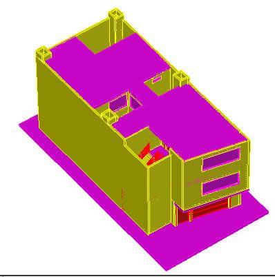Planos de 3d casa popular, en Vivienda unifamiliar 3d – Proyectos