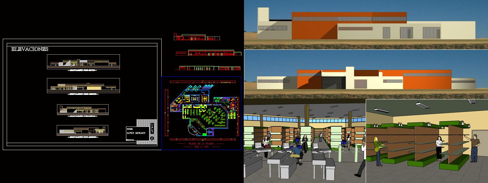 imagen 3d centro comercial, en Centros comerciales supermercados y tiendas - Proyectos