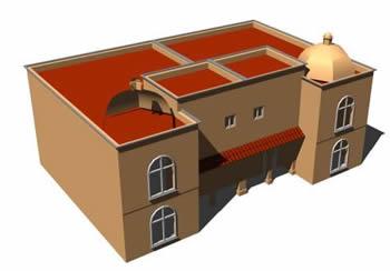 Planos de 3d de una casa, en Vivienda unifamiliar 3d – Proyectos