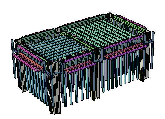 imagen 3d formado en madera, en Encofrados deslizantes - Detalles constructivos