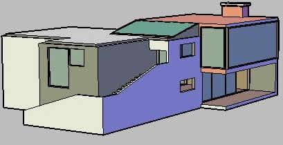 imagen 3d house  casa, en Vivienda unifamiliar 3d - Proyectos