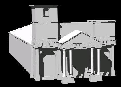 Planos de 3d iglesia la merced; barrio san esteban san salvador, en Arq. religiosa – Proyectos