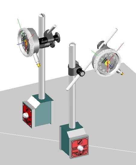 Planos de 3d indicador de microreloj, en Maquinaria e instalaciones industriales – Máquinas instalaciones
